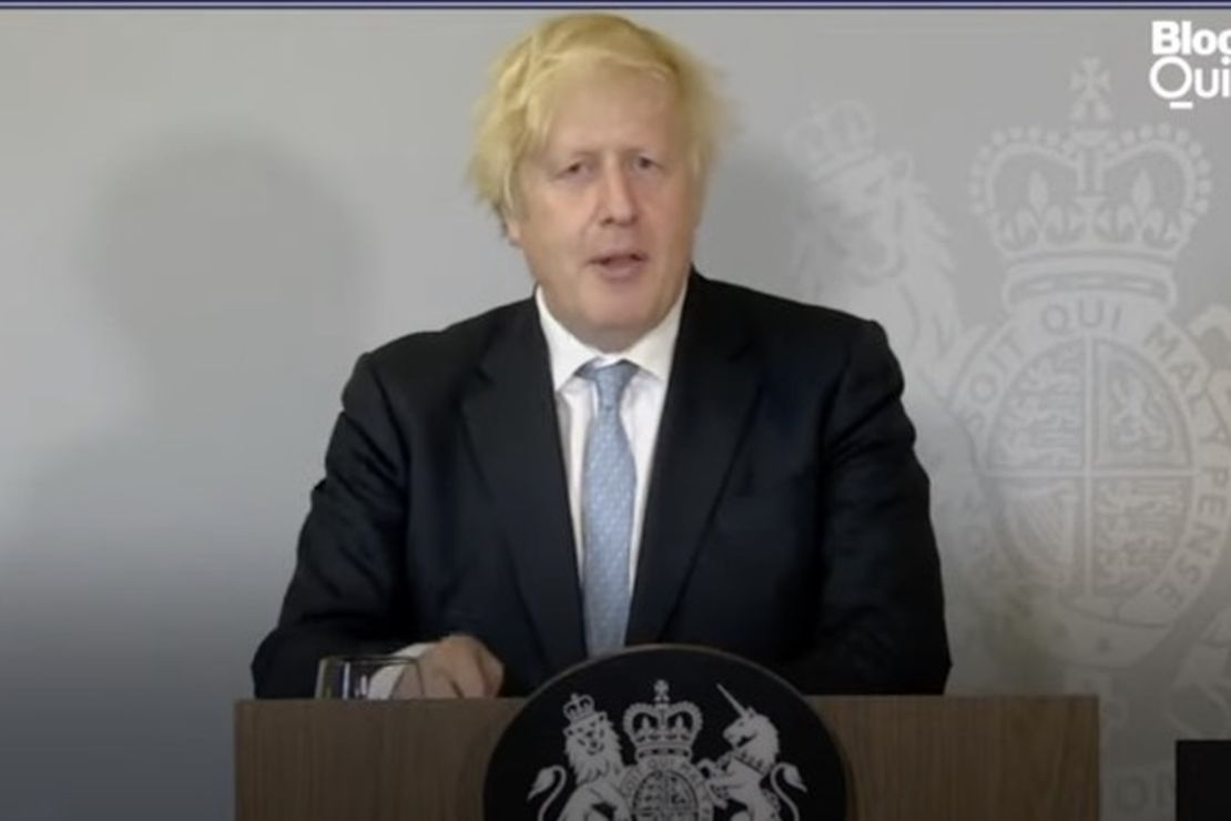 Boris Johnson on reopening amid a giant COVID wave
