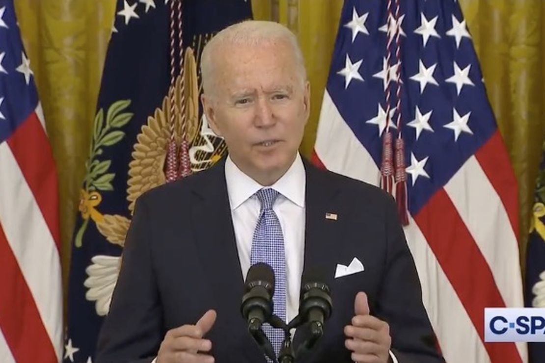 Biden: We shouldn't see much of a surge in hospitalizations and deaths -- but wear that mask anyway